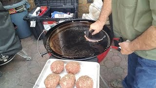 SMASHBURGERS | NEW GRIDDLE | WEBER KETTLE | RED LIMITED EDITION