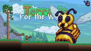 The un-BEE-lievable challenge.... Terraria 1.4 For the Worthy Let's Play #10