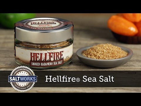 Hellfire® Smoked Habanero Sea Salt by SaltWorks®