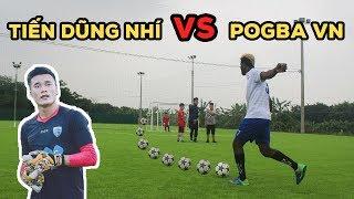 Thử thách bóng đá sút phạt 25m Bùi Tiến Dũng Nhí VS Paul Pogba phiên bản U23 Việt Nam