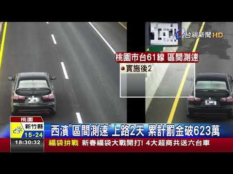 西濱區間測速上路2天累計罰金破623萬