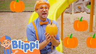 Blippi Visits Pumpkin Playground   Halloween Videos For Kids