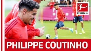 Philippe Coutinho's First Training at FC Bayern München