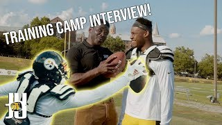 Training Camp Interview with Michael Irvin! | Behind the Scenes