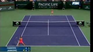 Ana Ivanovic vs Jelena Jankovic at Indian Wells