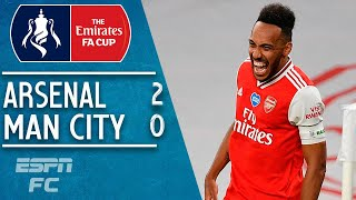 Pierre-Emerick Aubemeyang sends Arsenal to FA Cup final in 2-0 win vs. Man City | FA Cup Highlights
