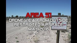 Area 51: Drone View from Outside Restricted Airspace #2