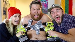 THIS WAS A TERRIBLE IDEA!! (DRILLING OFF CHEST HAIR)