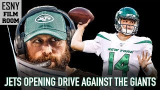 New York Jets' Tremendous Opening Drive Against The Giants | ESNY Film Room