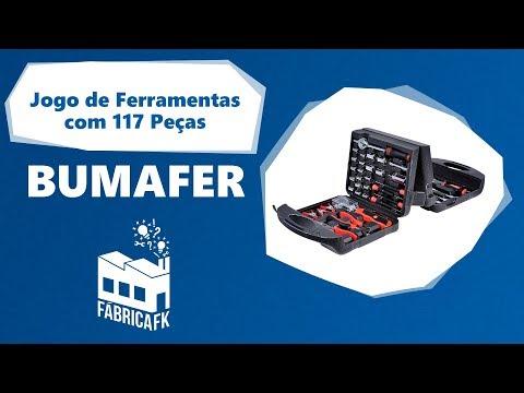Jogo de Ferramentas com 117 Peças Bumafer - Vídeo explicativo