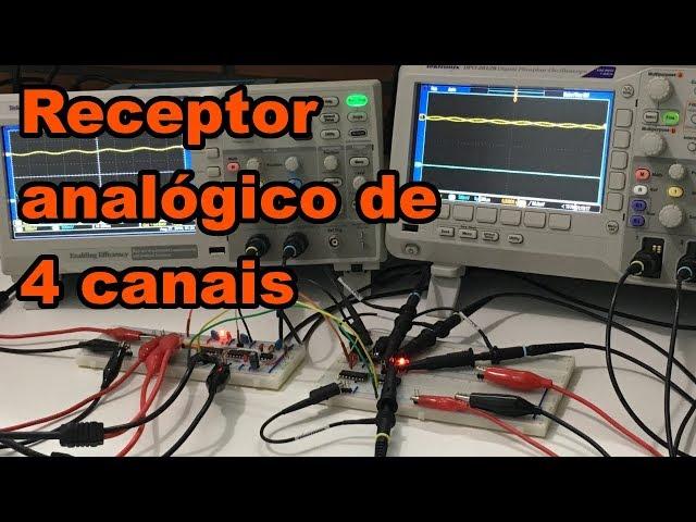 RECEPTOR ANALÓGICO DE 4 CANAIS | Conheça Eletrônica! #143