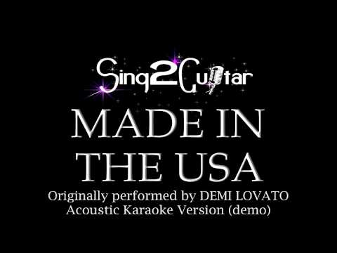 Baixar Made in the USA (Acoustic Karaoke Version) Demi Lovato