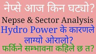 Nepse & Hydro power Sector Analysis//stock analysis nepal