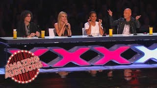 America's Got Talent 2014 - Howard and Howie Get Into The Act