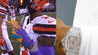 Odell Beckham Jr Signs Watch Deal After Sporting FAKE $2 Million Richard Mille Watch During Game