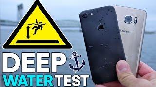 iPhone 7 vs S7 DEEP Water Test! How Deep Before It Dies?