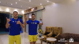 قناة النصر : جوليانو يُبلغكم السلام .. ونجوم العالمي يواصلون الاستعداد ...