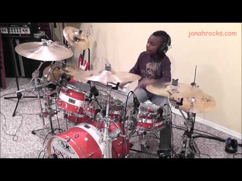Breaking Benjamin, Sooner or Later, 9 Year Old Drummer, Jonah Rocks