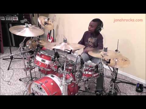 Breaking Benjamin, Sooner or Later, 9 Year Old Drummer, Jonah Rocks
