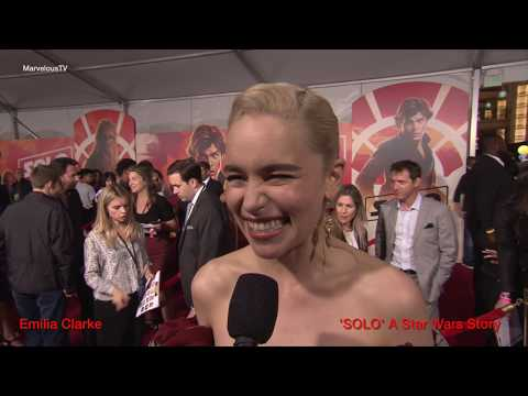 Emilia Clarke at the  'SOLO' A Star Wars Story premiere