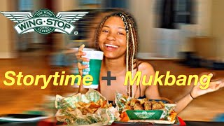 WingStop Mukbang + I skipped School With A 22 Year Old Storytime