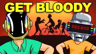 """DAFT PUNK """"Get Lucky"""" Parody (Happy Wheels Song with Subtitles)"""
