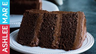 How to make the Perfect Chocolate cake - Rich, dense moist cake recipe with Ganache Buttercream