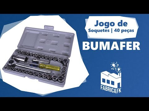 Jogo de Soquete Reversível 40 Peças Sextavado Bumafer - Vídeo explicativo