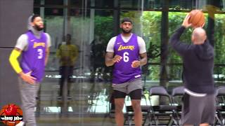 LeBron James & Anthony Davis Shooting Workout After Lakers Practice. HoopJab NBA