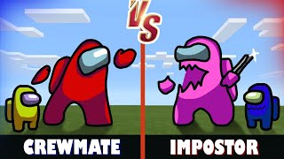 Crewmate vs. Impostor   Minecraft (AMONG US 2000iq plays)