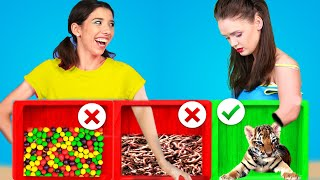 MYSTERY BOX CHALLENGE! BLACK vs WHITE Color Food Challenge! Last To Stop WINS! by KABOOM!