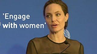 Angelina Jolie highlights role of female peacekeepers