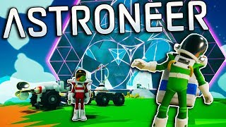 TRACTOR EXPLORATION ENDS IN ALIEN DISCOVERY! - Astroneer Multiplayer Gameplay - Space Survival