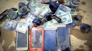 River Treasure: iPhones, Cash, iHome, Raybans And MOAR!