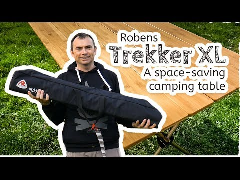 video Robens Trekker XL – A compact wooden camping table