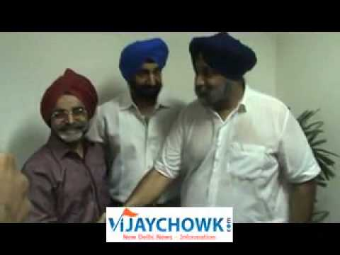 Sukhbir Singh Badal celebrates Birthday at Delhi