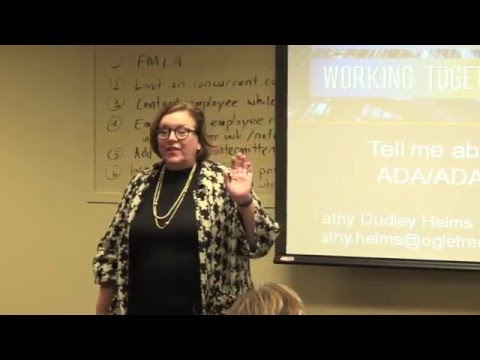 What is FMLA - Brown Bag Lunch Series - March 9, 2016