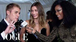 Justin & Hailey Bieber on Dressing Up for the Met | Met Gala 2021 with Keke Palmer | Vogue