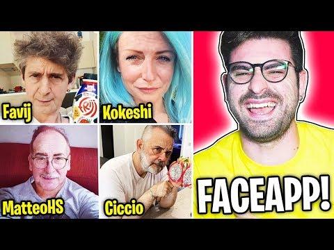 COME SAREBBERO GLI YOUTUBER DA ANZIANI? (Faceapp)