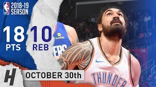 Steven Adams Full Highlights Thunder vs Clippers 2018.10.30 - 18 Pts, 2 Ast, 10 Rebounds!