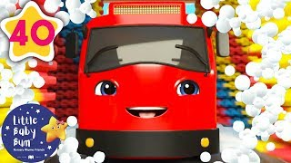 Carwash Song with Go Buster! | +More Nursery Rhymes & Kids Songs | Baby Songs | Little Baby Bum