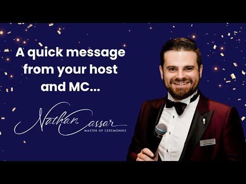 Nathan Cassar, Master of Ceremonies Welcome Video (June 2021)