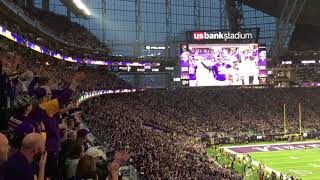 SKOL chant @ Minnesota Vikings vs New Orleans Saints from the stands.
