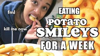 i only ate potato smileys for a week | taz tries