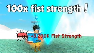 fastest way to level up fist strength
