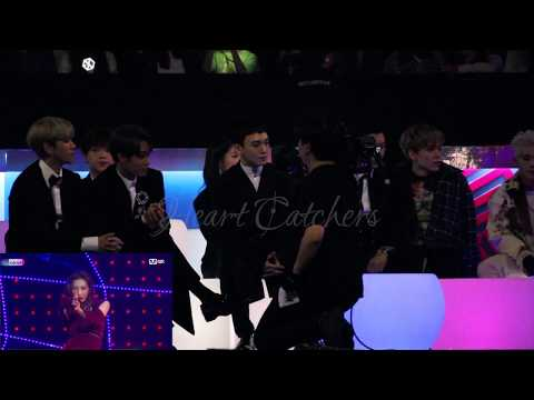[HD FANCAM] 171201 2017 MAMA IN HONG KONG EXO & VERNON'S REACTION TO TAEMIN & SUNMI'S GASHINA