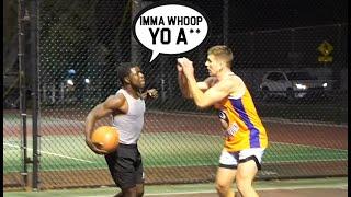 Trash Talker Tried To FIGHT ME!!! (Mic'd Up 5v5 Basketball)