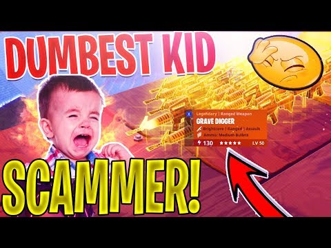 DUMB KID Scammer SCAMS Himself *SCAMMER Gets SCAMMED* In Fortnite Save The World