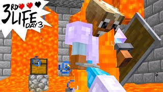 Minecraft 3rd Life: Day 3 - Trial by Lava!
