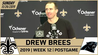 Drew Brees Postgame Reactions After Week 12 Win vs Panthers | New Orleans Saints Football